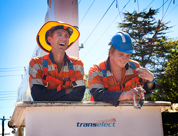 Transelect technicians, Stef Scognamiglio (left), Ross Dunlop (right) - Wollongong, NSW
