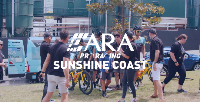 ARA Pro Racing Logo with Image in Background